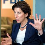 "IMPROVED STATE: Gov. Gina M. Raimondo said she's running on a record of creating jobs, investing in education and rebuilding schools, bridges and roads. ""Rhode Islanders are better off than when we started. More people are working. People are making more money.""