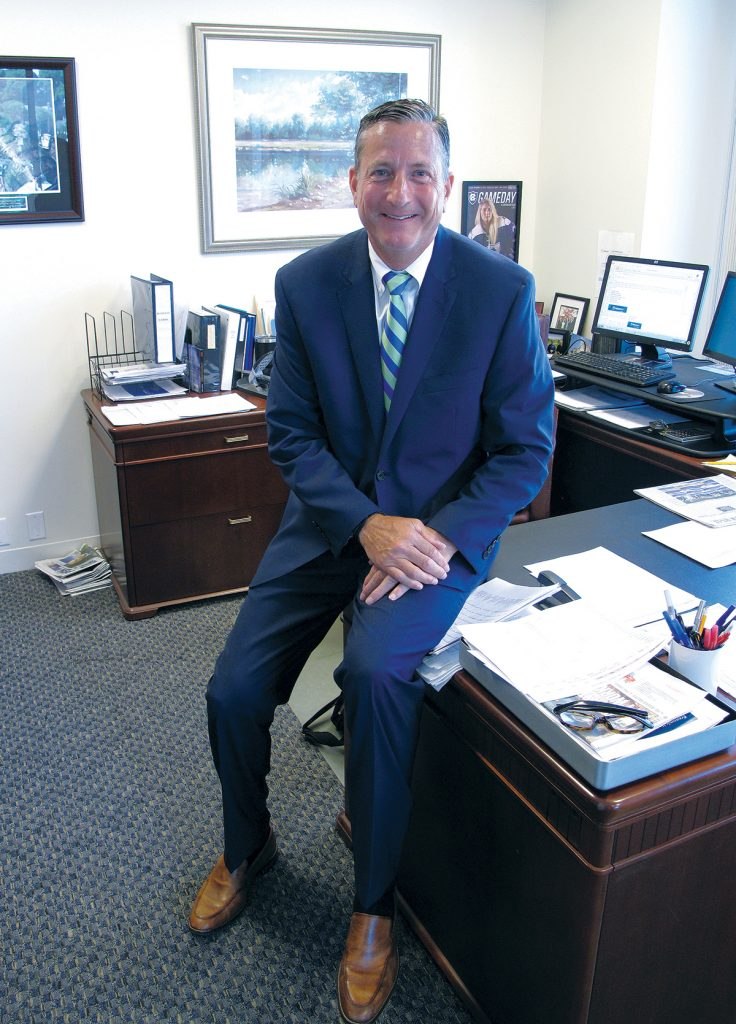 Following two decades at Bank of America/Fleet Financial Group, Douglas E. Scala served as an executive at The Hudson Companies. In 2014 he joined Webster Bank and is responsible for commercial banking in the region. / PBN PHOTO/MARK S. MURPHY