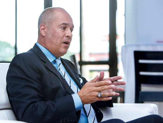 NEW ECONOMY: Rhode Island gubernatorial candidate Giovanni Feroce, former CEO of Alex and Ani LLC, wants to design a new economy for the state, which he sees as a hub for blockchain, an emerging technology he says will replace the internet. / PBN FILE PHOTO/RUPERT WHITELEY
