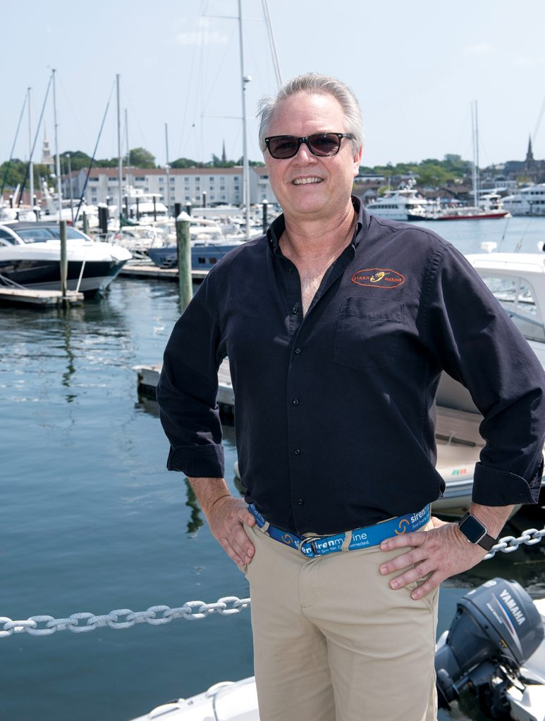 Daniel A. Harper has been growing Siren Marine LLC into a must-have for boat owners for more than a decade. It is a way to monitor your boat when you are away from it and avoid major catastrophes from sinking one of your most significant investments. / PBN PHOTO/DAVE HANSEN