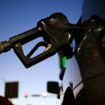 THE AVERAGE PRICE of sel-serve, unleaded regular gasoline in Rhode Island remained unchanged at $2.88 per gallon this week. / BLOOMBERG NEWS FILE PHOTO/LUKE SHARRETT