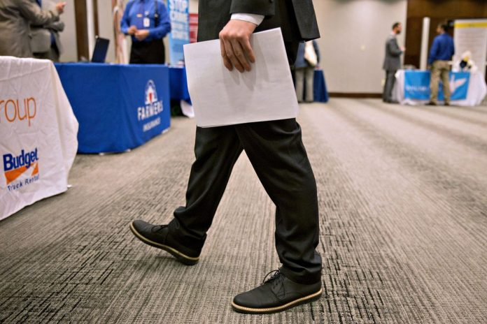 RHODE ISLAND had the second-highest unemployment rate in New England in July at 4.1 percent. / BLOOMBERG NEWS FILE PHOTO/DANIEL ACKER