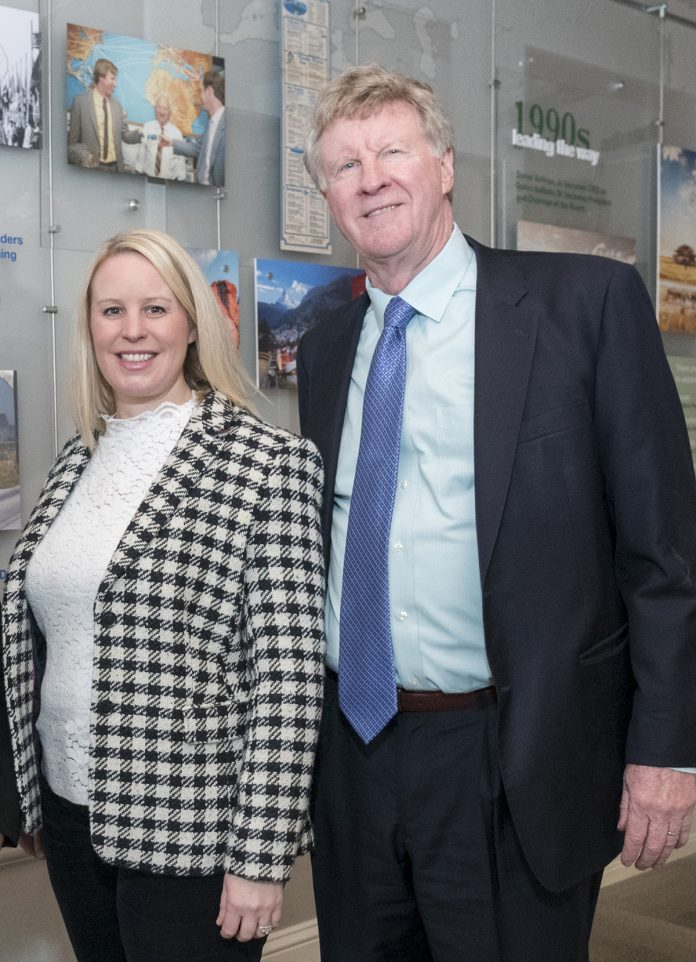 Jaclyn Leibl-Cote, president of Collette Travel Services Inc., is pictured right standing next to her father, Dan Sullivan Jr., former president and current Collette CEO. On Wednesday, the Pawtucket-based company announced it planned to create