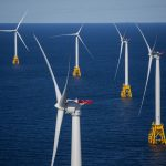 WHILE IT IS THE ONLY CURRENTLY operating wind energy facility in the United States, the Block Island Wind Farm is just the first of many, according to the latest U.S. Department of Energy report. / BLOOMBERG NEWS FILE PHOTO/ERIC THAYER