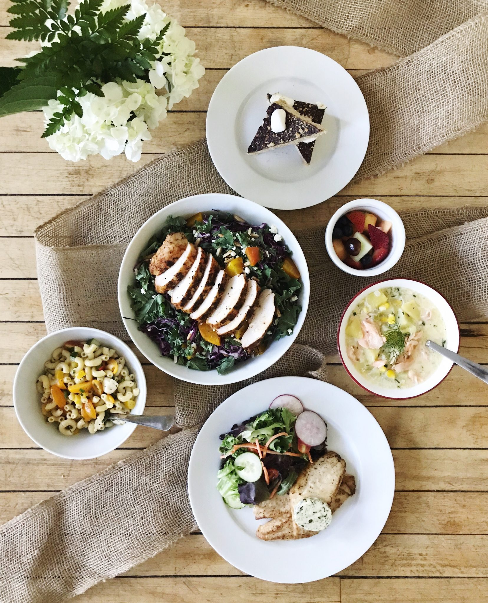 Pictured are examples of meals available from Warren-based meal prep and delivery company Feast & Fettle. / PHOTOS BY JANE LIU and STACEY DOYLE / COURTESY FEAST & FETTLE