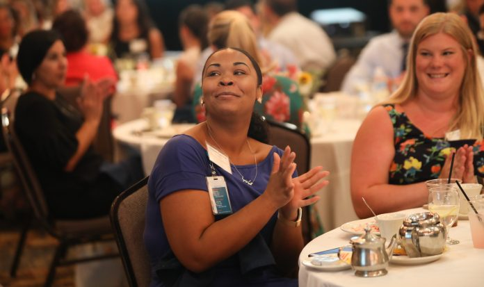 ATTENDEES AT THE SEVENTH HEALTHIEST EMPLOYERS luncheon, held at the Providence Marriott Downtown Thursday, celebrated 34 companies and 19 individuals for their achievements in wellness. / PBN PHOTO/PAMELA BHATIA