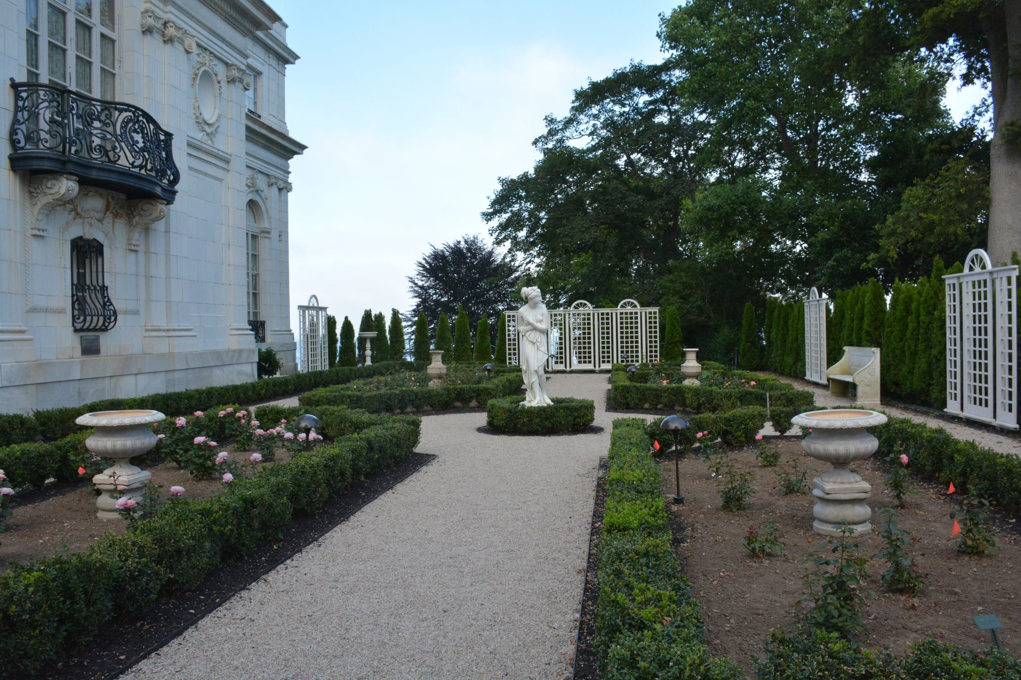 RESTORATION OF THE Rosecliff Rose Garden Has Been Completed By The  Preservation Society Of Newport County. / COURTESY OF PRESERVATION SOCIETY  OF NEWPORT ...
