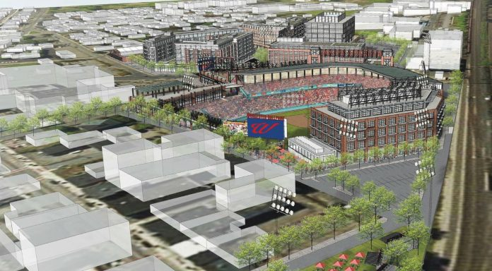 A RENDERING of the newly announced Worcester, Mass., stadium that will house the Pawtucket Red Sox following the end of the team's tenure at McCoy Stadium. / COURTESY PAWTUCKET RED SOX