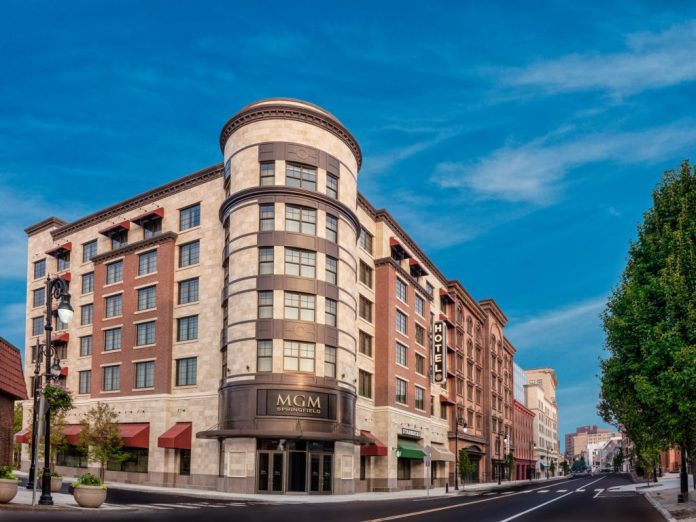 THE MGM SPRINGFIELD opened Friday morning in Western Massachusetts, just north of Connecticut. / COURTESY MGM