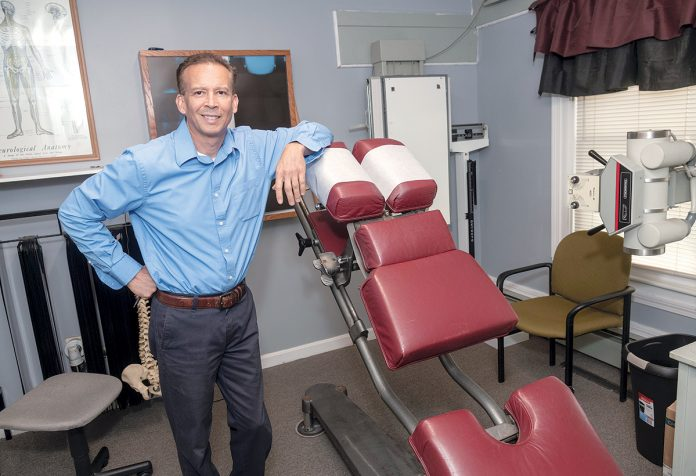 CAREER ADJUSTMENT: Rodger Lincoln is the owner of New Hope Family Chiropractic, which has two locations, East Providence and Pawtucket. After suffering from a back injury while working in construction, Lincoln eventually found successful treatment through a chiropractor and the experience led him to start his own practice.