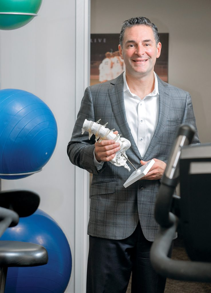 Inspired by a physical therapy experience for an injury that kept him from playing basketball his senior year of high school, Michael Nula has built Elite Physical Therapy from one office in 2002 in Warwick to nine offices in the region. / PBN PHOTO/DAVE HANSEN
