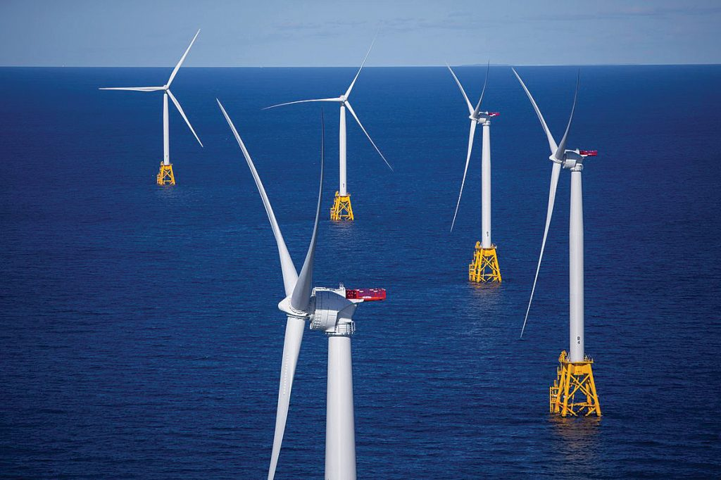 A FRESH BREEZE SHOULD BLOW: Meetings of the New England Power Pool, a regional energy trade association, should be open to the public, since energy policy is being developed there at the request of the Federal Energy Regulatory Commission. Pictured is the Block Island Wind Farm. 