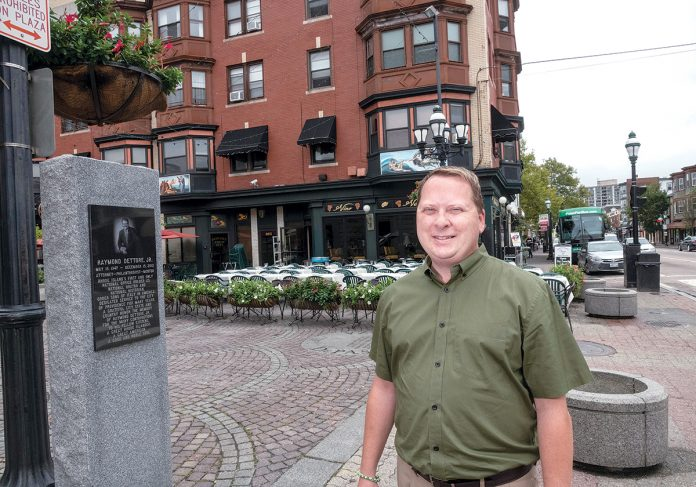 FAVORABLE CHANGES: Rick Simone, executive director of the Federal Hill Commerce Association, said merchants in the Federal Hill section of Providence are pleased with changes to the city's licensing and permitting system that have made the process faster and easier, adding the city's Board of Licenses has been more responsive to merchant concerns.