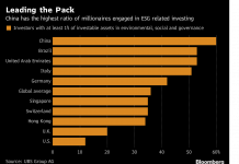 UNITED STATES millionaires lag behind the global average in environmental, social and corporate governance-related investments. / BLOOMBERG NEWS