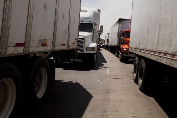 IN THE SECOND month of truck-toll operation, the R.I. Department of Transportation collected $664,618 from 200,746 vehicles. / BLOOMBERG NEWS FILE PHOTO/SAM HODGSON