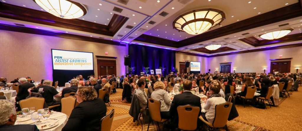 PBN'S SEVENTH ANNUAL Fastest Growing & Innovative Companies event recognized 33 companies Tuesday evening at the Crowne Plaza Providence-Warwick.