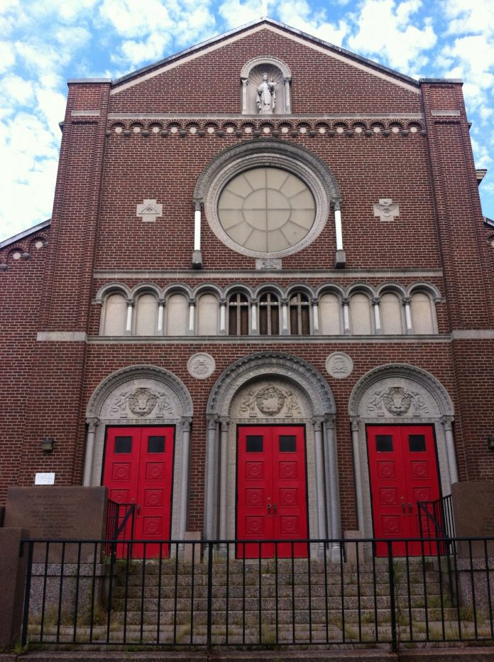 Our Lady of Mt. Carmel Church in Federal Hill may become part of a new residential and commercial development./PBN PHOTO MARY MACDONALD