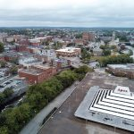 SHATTERED DREAM: Pictured is the site of the former Apex department store in downtown Pawtucket, which had been the proposed location for a new ballpark for the Pawtucket Red Sox until the team announced it found a better deal with Worcester, Mass., where it will be moving in two years./ PBN FILE PHOTO/PAMELA BHATIA
