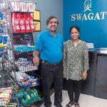 NEW FLAVORS: Nagendra Thatavarthy and his wife, Lalitha, are owners of Swagat, an Indian food store and restaurant that opened a few months ago in the Diamond Hill Road area of Woonsocket. The grocery has spices and foods and fresh produce, as well as staples. / PBN PHOTO/MICHAEL SALERNO