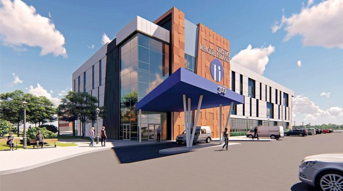 TAKING ADVANTAGE: Ortho Rhode Island's new building being constructed along Crossings Boulevard in Warwick will be the state's first to take advantage of legislation exempting medical-tourism-themed facilities from the R.I. Department of Health's certificate-of-need process.