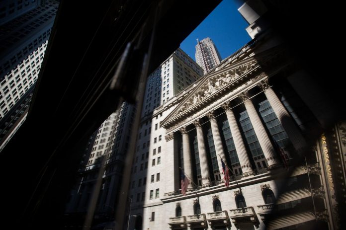 UNITED STATES stocks gained the most in more than six months. The S&P 500 Index rose 2.2 percent to 2,809.83 as of 4 p.m. and the Dow Jones Industrial Average rose 1.9 percent. / BLOOMBERG NEWS FILE PHOTO/MICHAEL NAGLE