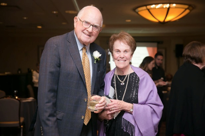 ARTHUR ROBBINS, left was the recipient of the 2018 Human Dignity Award presented by HopeHealth. He is standing next to his wife, Judy Robbins. HopeHealth raised over $300,000 at its annual gala this year. / COURTESY HOPEHEALTH