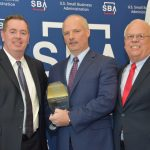 HARBORONE BANK of Warwick was among six banks and business finance firms honored as exemplary lenders for small business in a recent ceremony by the U.S. Small Business Administration. Shown above are (left to right) SBA Regional Administrator Wendell Davis, HarborOne Bank Vice President Joseph Hindle, and SBA Regional Director Mark Hayward. / COURTESY/U.S. SMALL BUSINESS ADMINISTRATION