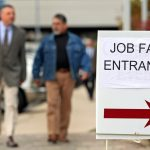 PROVIDENCE METRO UNEMPLOYMENT declined 0.5 percentage points to 3.9 percent in August. / BLOOMBERG FILE PHOTO/TIM BOYLE
