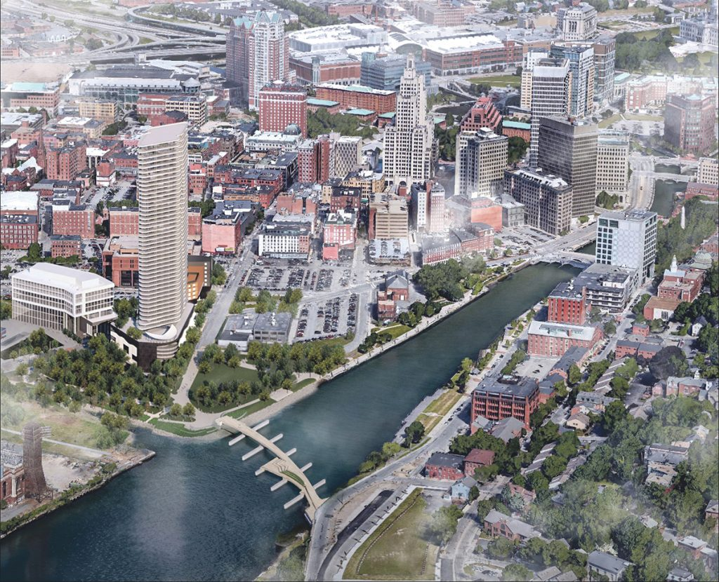 A FUTURE VISION: The proposed Fane Organization's Hope Point Tower has the potential to inject new life into the I-195 Redevelopment District and subsequently the rest of that part of downtown Providence.  / COURTESY THE FANE ORGANIZATION