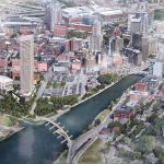 A FUTURE VISION: The proposed Fane Organization's Hope Point Tower has the potential to inject new life into the I-195 Redevelopment District and subsequently the rest of that part of downtown Providence. 