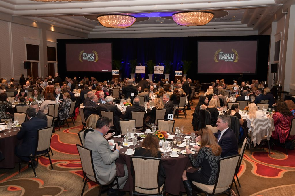 A CROWD OF MORE THAN 225 attended the 18th PBN Business Excellence Awards event Wednesday at the Omni Hotel Providence. / PBN PHOTO/MIKE SKORSKI