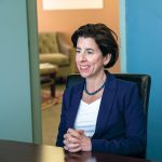 GOV. GINA M. RAIMONDO has won reelection in the gubernatorial race in Rhode Island. / PBN FILE PHOTO/MICHAEL SALERNO