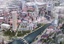 PROVIDENCE MAYOR Jorge O. Elorza outlined a series of agreements he would like to reach with the Fane Organization before committing to approval of a height variance for the proposed luxury residential tower in the Interstate 195 Redevelopment District. / COURTESY THE FANE ORGANIZATION