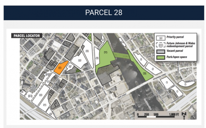 Parcel 28 has received interest from several developers in recent months. The I-195 Redevelopment District Commission is now issuing an RFP./COURTESY I-195 District Commission.