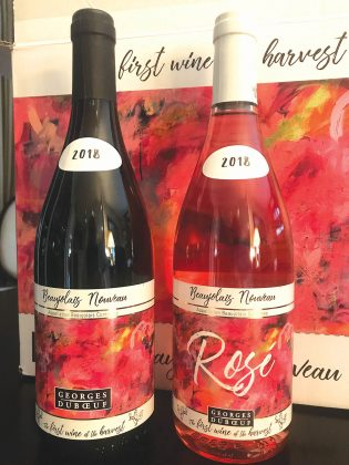 FIRST TASTE: Two bottles of the 2018 Beaujolais Nouveau Rosé served recently at Pot au Feu. / COURTESY ROBERT I. BURKE