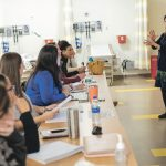ENGAGING STUDENTS: ­Denise Coppa, interim associate dean of graduate programs at the University of Rhode Island's College of Nursing, teaches a class at the Rhode Island Nursing Education Center in Providence. / PBN PHOTO/MICHAEL SALERNO