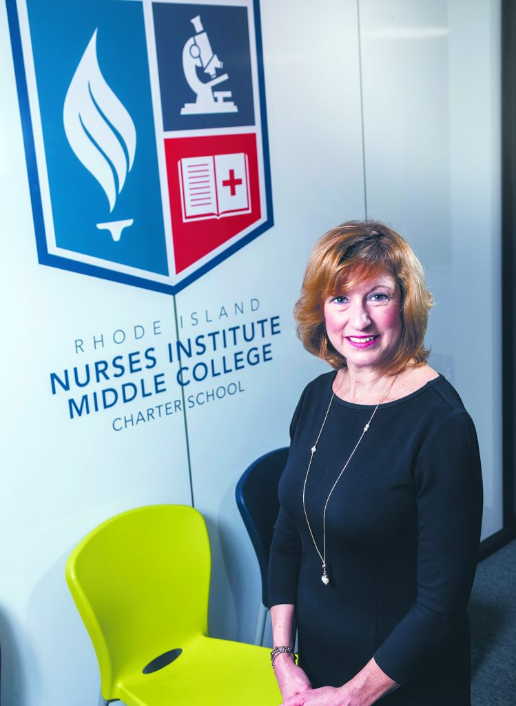 With deep experience in nursing, ranging from being an RN, to earning a Ph.D. in nursing and being the executive director of the Rhode Island State Nurses Association, Pamela L. McCue understands all aspects of the profession and its importance to quality health care delivery. / PBN PHOTO/MICHAEL SALERNO