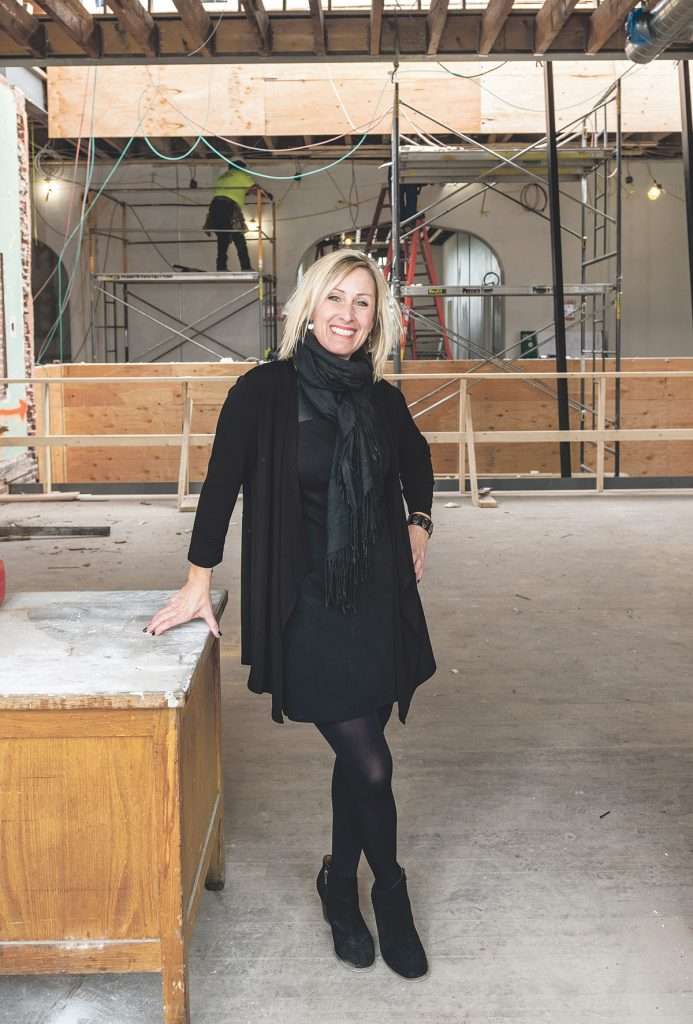 Tuni Schartner is chief marketing officer of the Mill at Lafayette in North Kingstown and director of The Hive co-working space there, owner of TS Consulting and now the head of Innovate Newport, an under-construction technology incubator located in the former Sheffield School. / PBN PHOTO/DAVE HANSEN