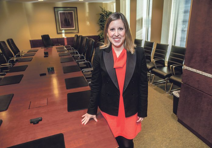 SIGNIFICANT OPPORTUNITY: Elizabeth Manchester, an attorney at Partridge Snow & Hahn in Providence, said the baby-boom generation and impending transfer of wealth through deferred giving will create opportunities for nonprofits. / PBN PHOTO/MICHAEL SALERNO