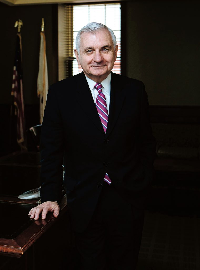 Sen. Jack Reed has been in the Senate since 1997, after serving six years in the U.S. House. Rhode Island's senior senator has made a name for himself nationally in military affairs, currently serving as the ranking member on the Senate's Committee on Armed Services. / PBN PHOTO/RUPERT WHITELEY