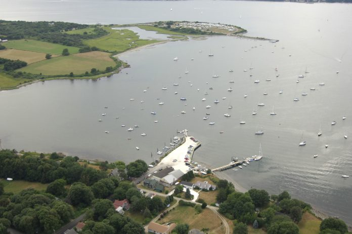 DUTCH HARBOR Boat Yard in Jamestown, above, and the Newport Yachting Center Marina in Newport were named Elite Fleet tier marinas for 2018 by Marinas.com. / COURTESY MARINAS.COM