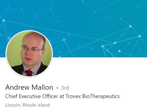 ANDREW MALLON is no longer director of the MassChallenge Rhode Island accelerator program. Above, a screenshot of Mallon's LinkedIn profile. / COURTESY LINKEDIN