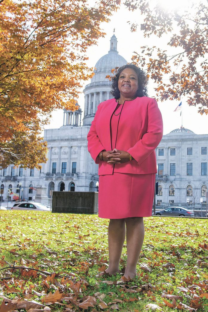OPENING the door: Cheryl Burrell, associate director of the R.I. Office of Diversity, Equity and Opportunity, has been working to open state government job opportunities to a wider scope of the state's population since 1993.  / PBN PHOTO/DAVE HANSEN
