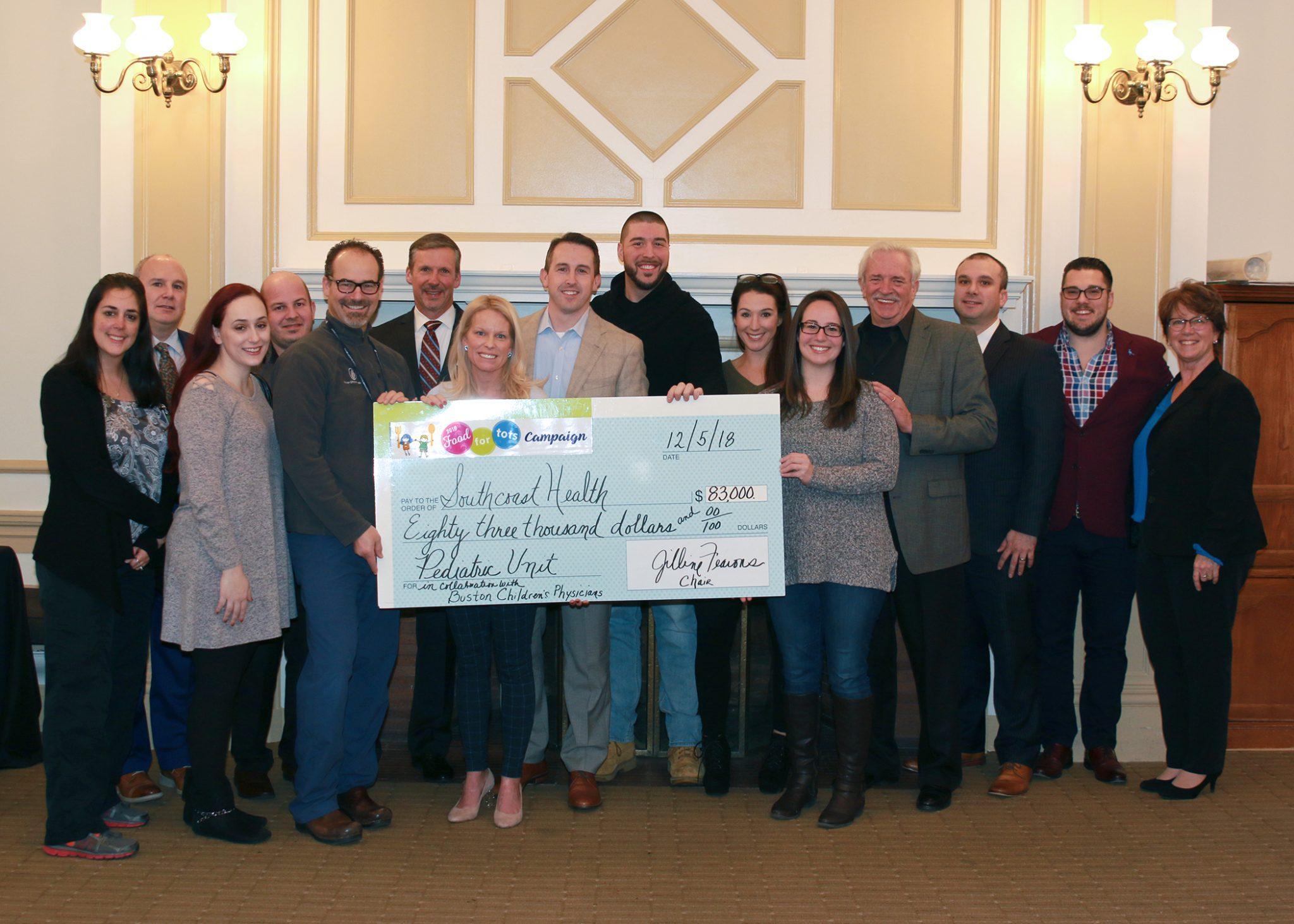 Food for Tots donates $83K to Southcoast Health pediatric