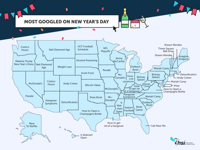 RHODE ISLANDERS Googled the term 'detoxification' on Jan. 1, according to a report by highspeedinternet.com. / COURTESY HIGHSPEEDINTERNET.COM
