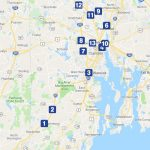 THE R.I. DEPARTMENT of Transportation has received Federal Highway Administration approval for the remaining 10 truck-toll gantry locations following an environmental review. Above, a map of the gantry locations. / COURTESY GOOGLE INC.