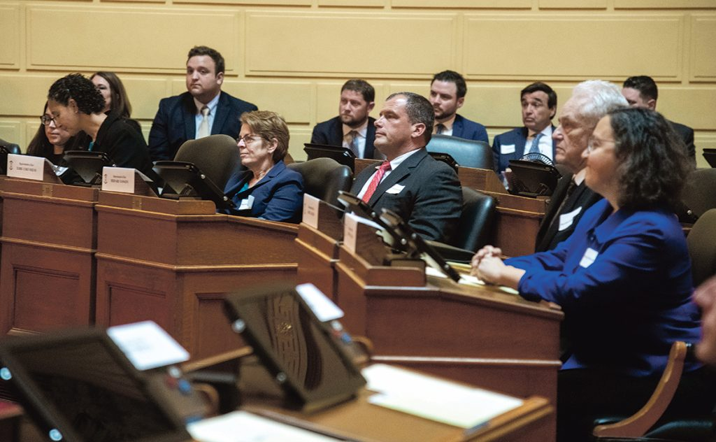 Freshmen House representatives attend an orientation at the Statehouse in Providence, as they prepare for the new legislative session.