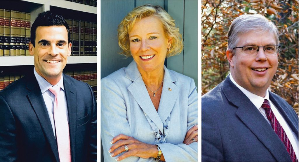LEGISLATIVE DELEGATION: From left, Massachusetts Reps. Christopher Hendricks, D-New Bedford, Susan Williams Gifford, R-Wareham, and Norman Orrall, R-Lakeville, will be among those scheduled to attend the Southeastern Massachusetts Legislative Alliance of Chambers' 2019 legislative-agenda presentation on Jan. 18 at the Taunton Holiday Inn in Taunton. / COURTESY CHRISTOPHER HENDRICKS, SUSAN WILLIAMS GIFFORD AND NORMAN ORRALL