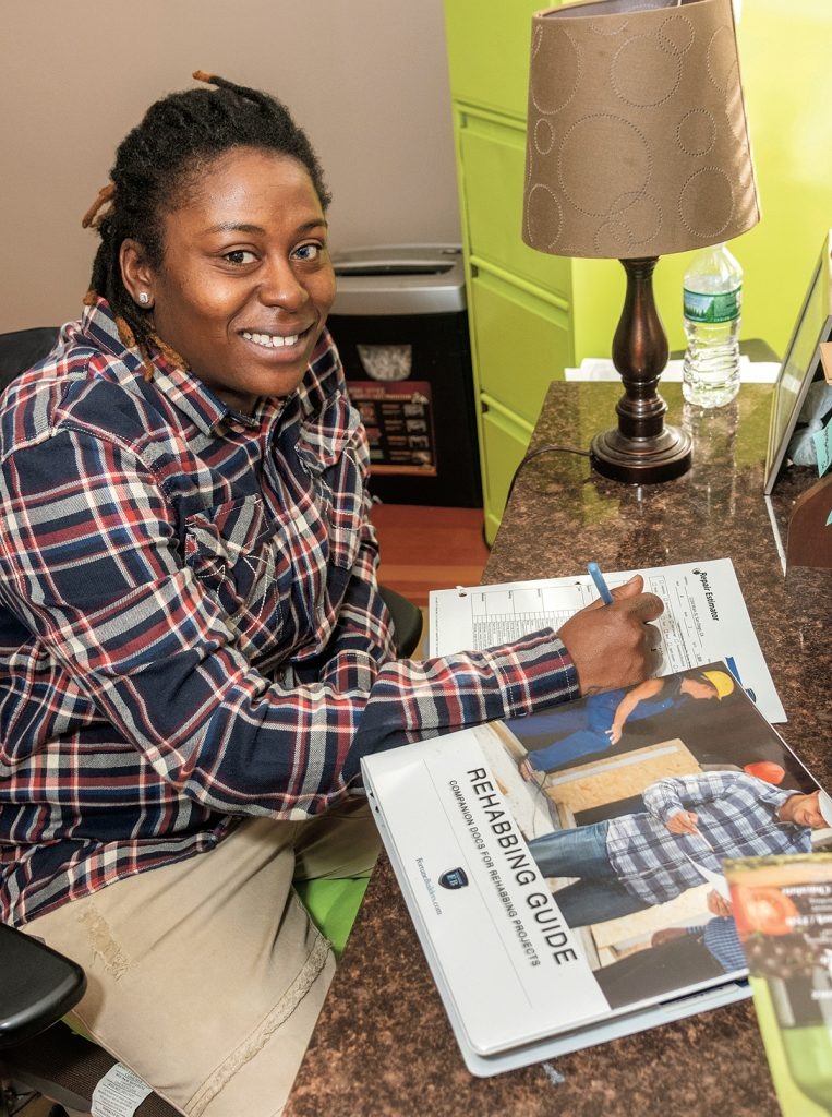 FILLING A NEED: Vennicia Kingston, owner of Eagle Eye Properties in Providence, said the goal of her business is to purchase abandoned buildings and complete needed construction to return them to code to house families in need. / PBN PHOTO/MICHAEL SALERNO