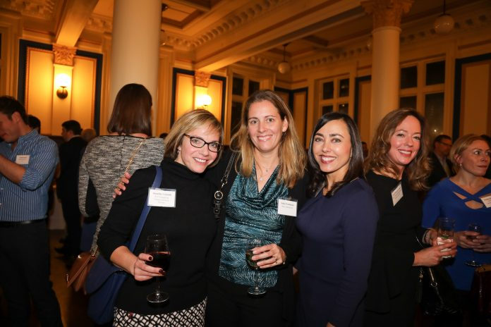 MAKING CONNECTIONS: Attending the business community's premier networking event, the annual PBN Book of Lists unveiling event, are from left, Jennifer Vinniti, JLV Consulting; Julie Freshman, MC Commercial; Joyce Fastino, The Personnel People; and Karen Brunner Lemke, RBC Wealth Management.